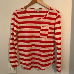 Like new Ann Taylor Loft striped shirt
